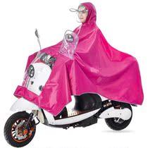防水电动自车行女姓衣车雨两轮摩托车女姓皮防雨罩单人加大大人