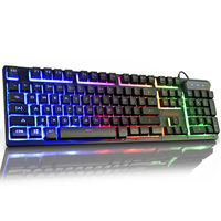 Ruyi bird Backlit gaming computer desktop home lighting mechanical feel notebook external USB wired keyboard waterproof mute business office typing esports peripherals Internet cafes cf