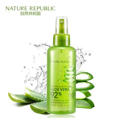 自然共和国芦荟胶补水喷雾晒后修护舒缓保湿柔肤爽肤水正品男女