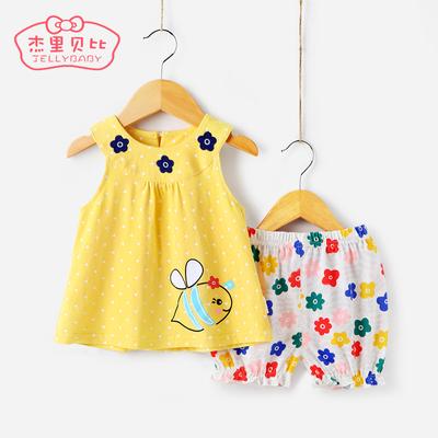 女童套装夏1一3岁2童装儿童夏季小童两件套婴儿衣服4-5宝宝夏装女