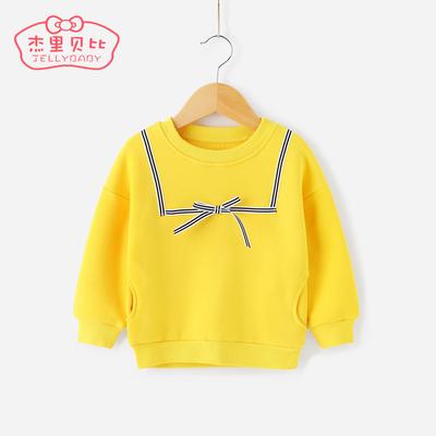 女童秋装打底衫1-3岁童装小童上衣春秋婴儿女宝宝2-4儿童加绒卫衣