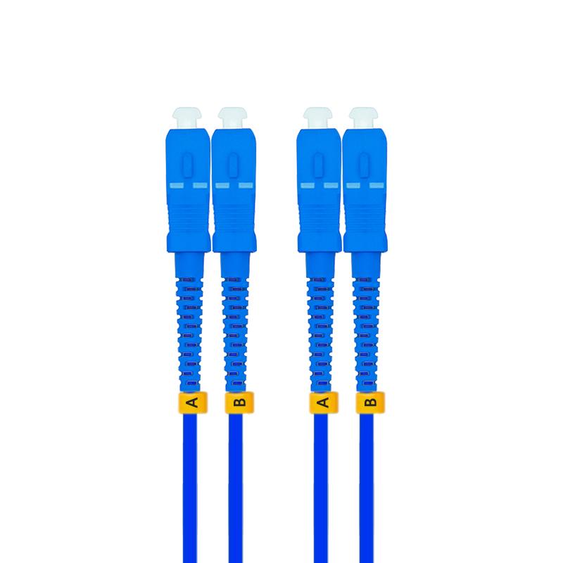80米SC-SC单模双芯铠装光纤跳线单模铠甲线防鼠金属钢丝