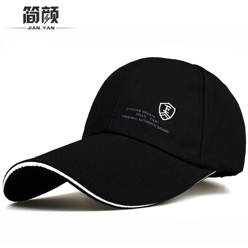 男帽子夏天户外太阳帽韩版加长沿鸭舌帽棒球帽防晒遮阳运动钓鱼帽
