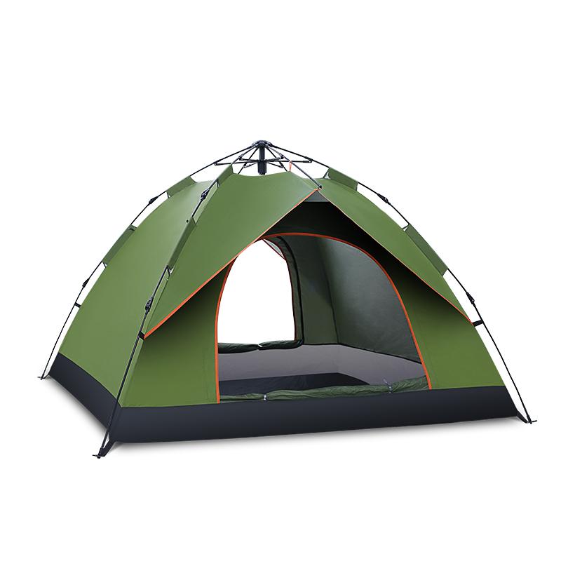 全自动户外帐篷3-4人野营单人2防雨二室一厅加厚双人野外露营速开
