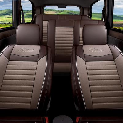 汽车坐垫四季通用五菱宏光S座套S1荣光V7七座专用全包围亚麻布套