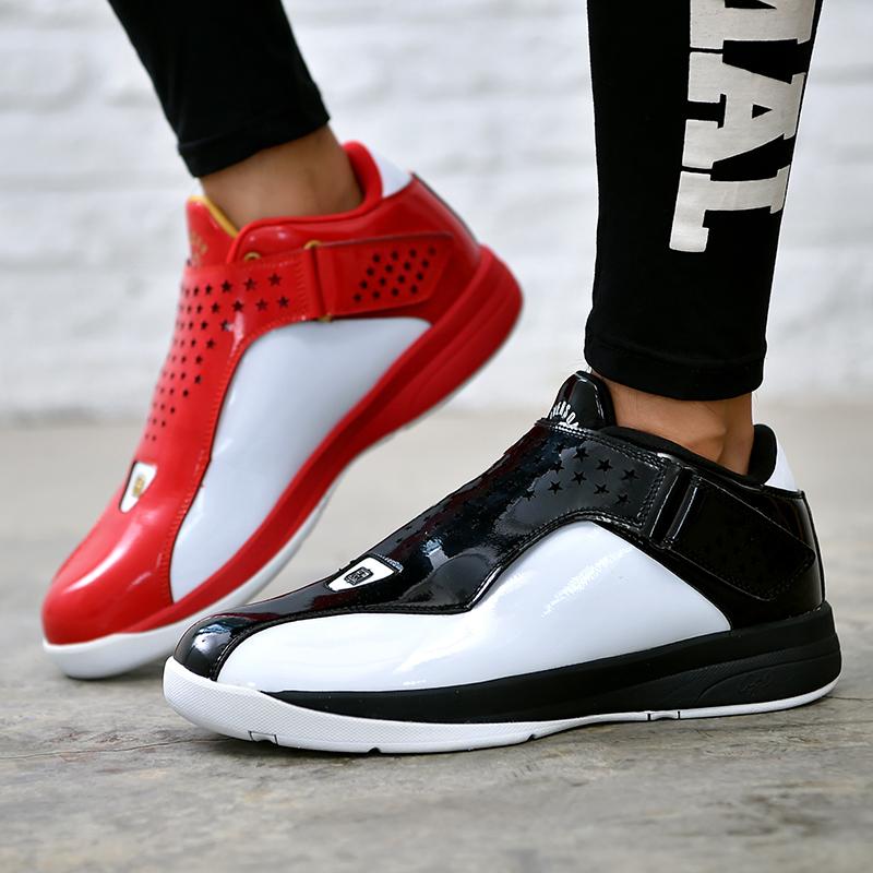 正品清仓艾弗森太极篮球鞋减震耐磨低帮运动鞋男鞋鸳鸯