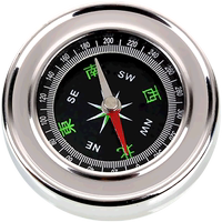 Large stainless steel compass compass compass compass portable outdoor hiking camping direction
