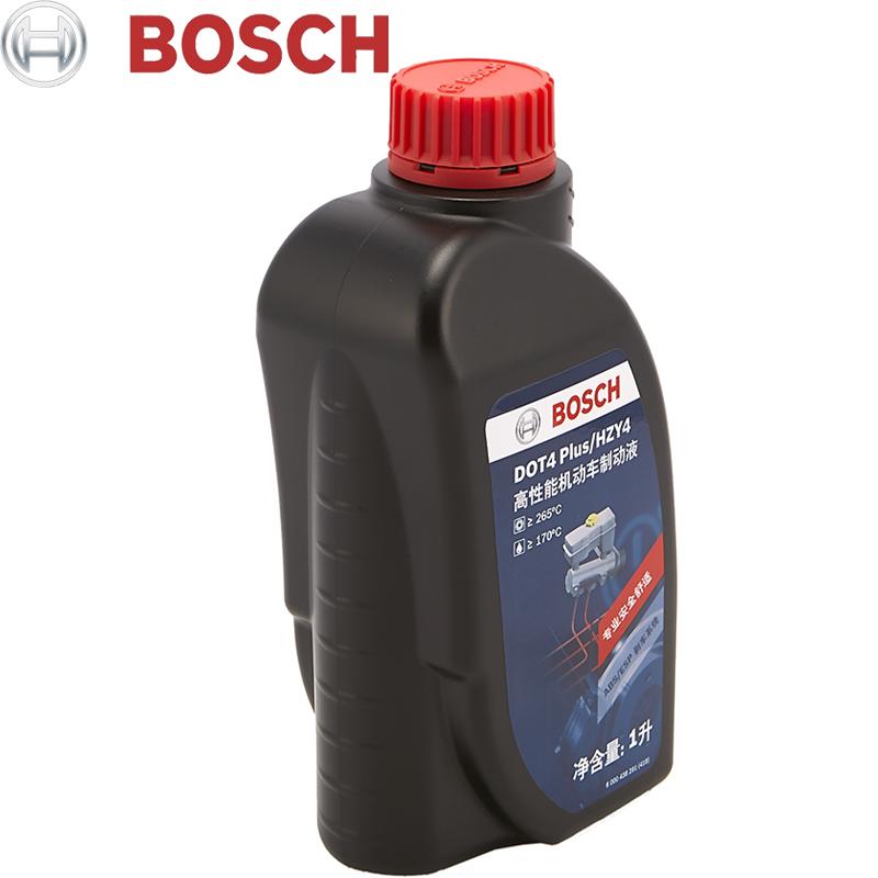 博世升级版刹车油 DOT4 Plus汽车摩托车通用型全合成制动液 1L装