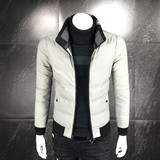 Jacket men's winter new two-sided wear cotton jacket male 2018 new self-cultivation stand collar youth cotton clothing trend men's outerwear
