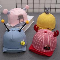 1毛线帽8女婴儿6个月帽子帽9到4假发7棉3秋冬5女宝宝冬装2岁半10
