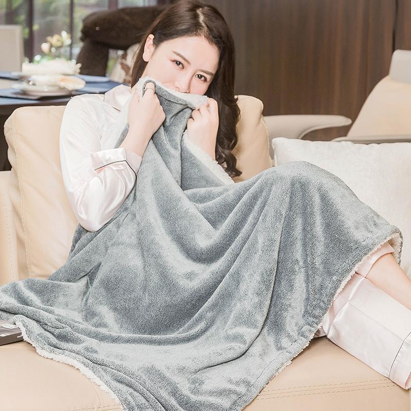 三春暖身毯护膝毯小电热毯单人学生宿舍办公室寝室暖腰盖腿热敷