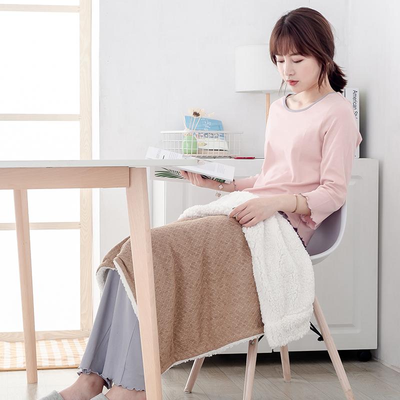 三春护膝毯暖身毯电热毯办公室午睡毯小毯子单人秋冬季学生宿舍