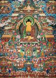 唐卡释迦牟尼2尺寸58x80新中式沙发背景墙装饰画宗教吉祥玄关挂画