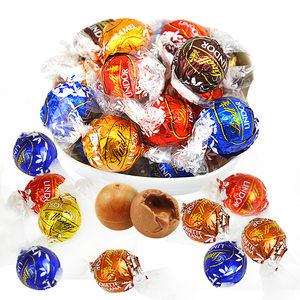 瑞士莲巧克力软心球lindor进口软心巧克力球500g婚庆喜糖散装零食