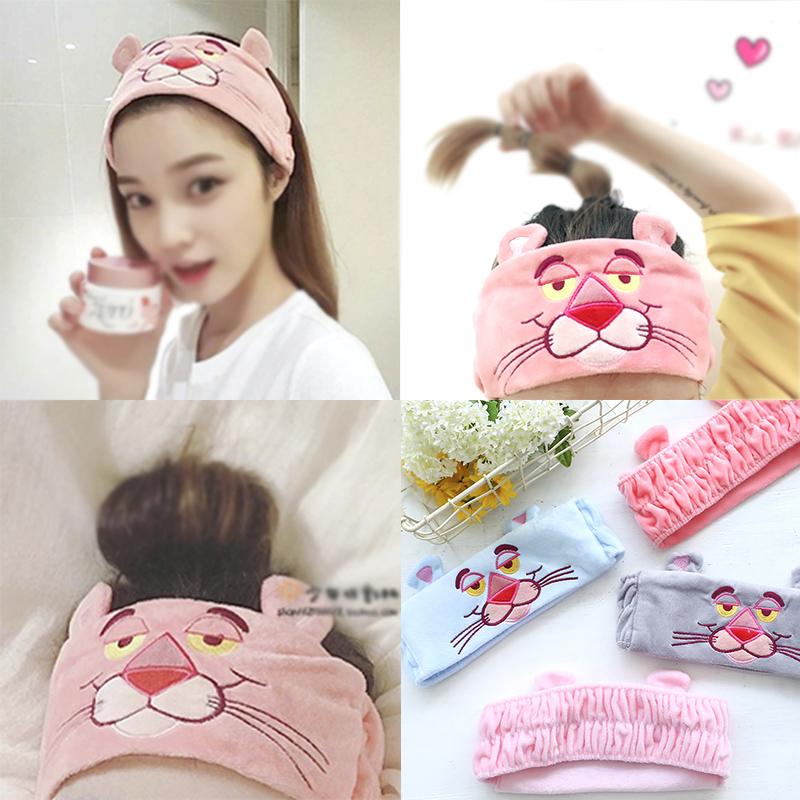 韩版可爱洗脸束发带面膜洗澡头.