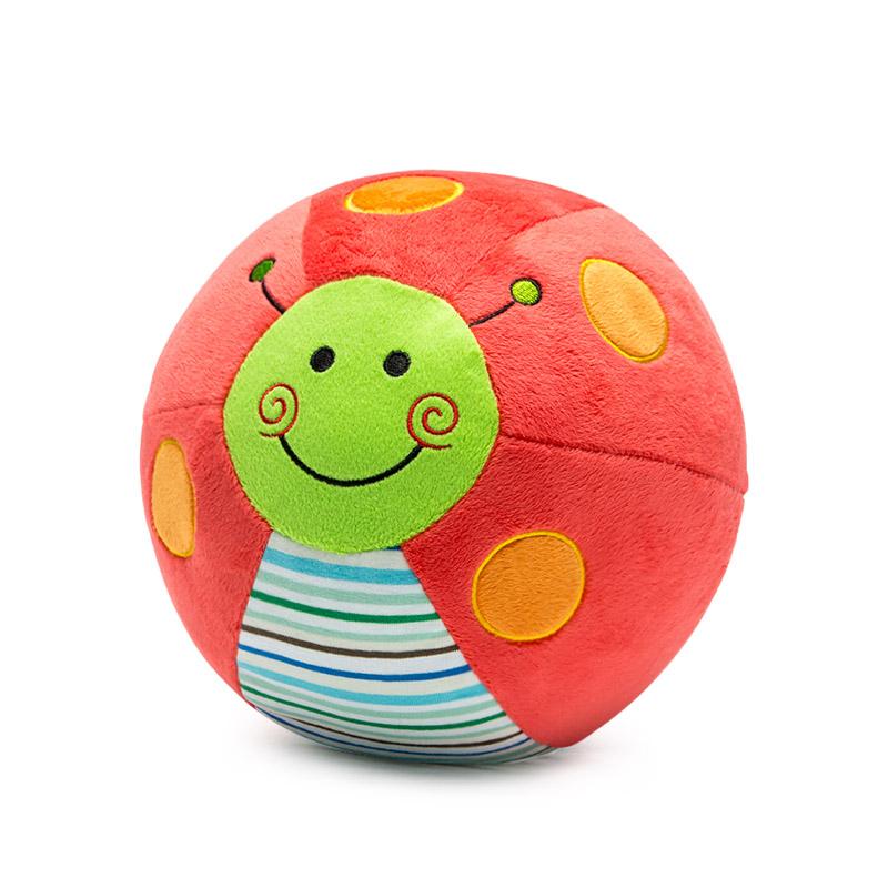 婴儿玩具0-6个月宝宝学步学爬布球新生儿益智早教毛绒训练爬行球