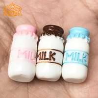 1:12 doll house dollhouse mini simulation food play photo props diy material resin stereo milk bottle