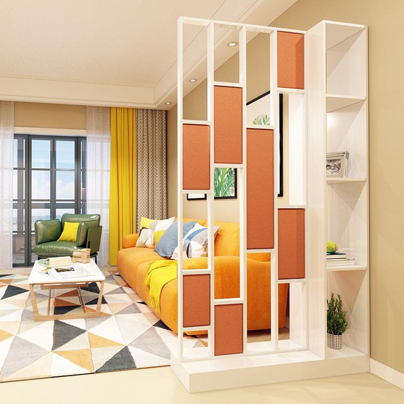 酒柜现代简约玄关柜屏风鞋柜一体装饰双面家用欧式镂空客厅隔断柜