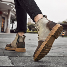 Fall and Winter 2019 New High and Medium Aid Workwear Martin Men's Shoes, Boots, Korean Edition Fashion, Leisure and Retro-British Style