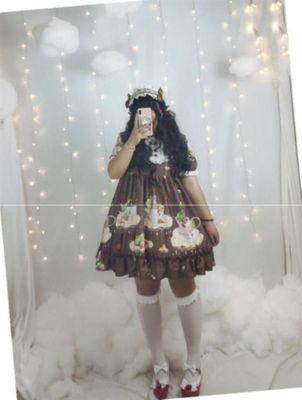 天国少女lolita裙正版 洛丽塔余生连衣洋装大码胖妹妹mm原创200斤