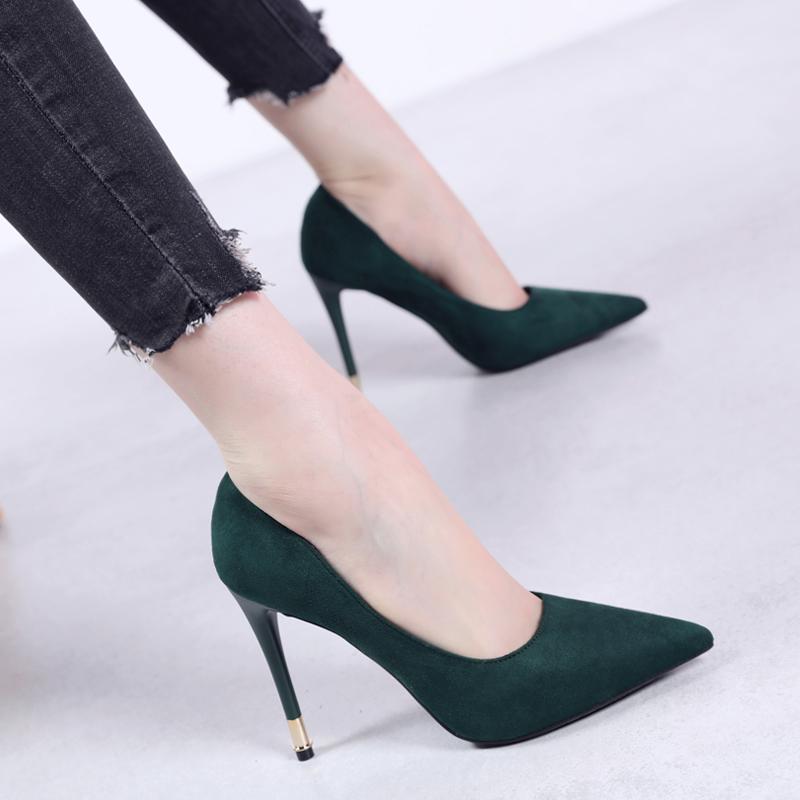 欧洲站尖头OL女鞋