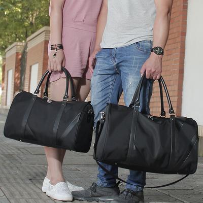 牛津布女单肩男士旅行包袋手提包大容量尼龙男出差短途行李包运动