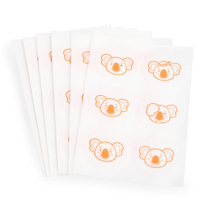日本和光堂驱蚊贴婴儿童植物卡通宝宝防蚊贴成人户外蚊子贴60片