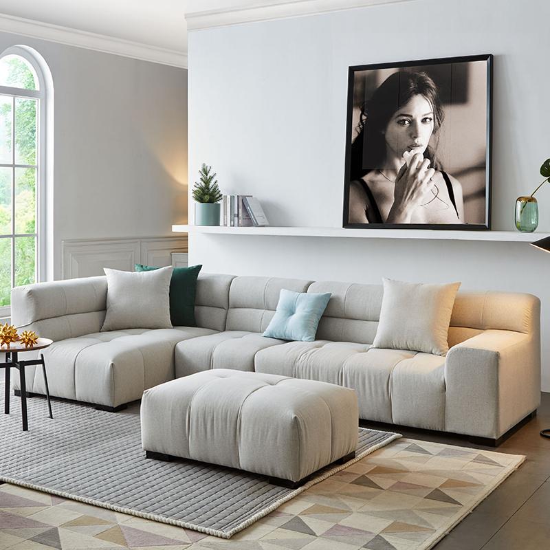 日式北欧沙发ins风格家具轻奢网红款布艺沙发简约现代宜家小户型