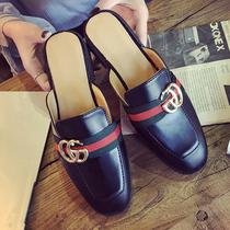 新款包头凉拖鞋女夏时尚潮外穿平底半拖鞋韩版懒人拖鞋半包头女鞋