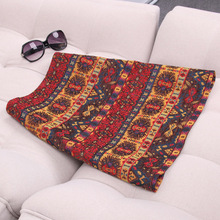 Spring and Summer Short Skirt New National Style Embroidery A-shaped High-waist Half Skirt with Autumn Retro-style Design Showing Slender Half-length Skirt Women