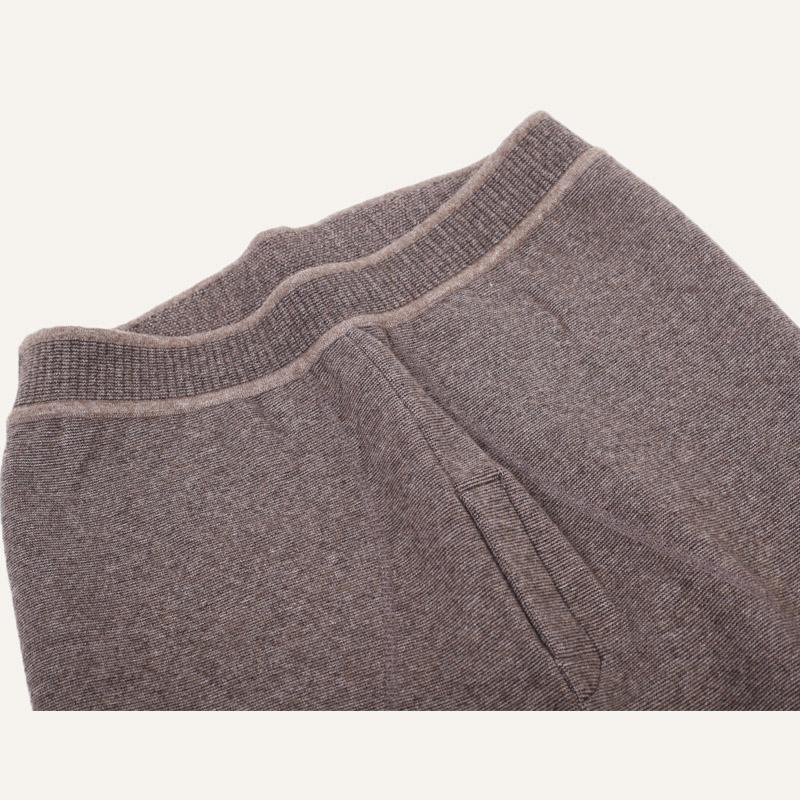 牧野旷歌新款男士中老年羊绒裤加厚加绒保暖大码毛线裤秋冬季打底