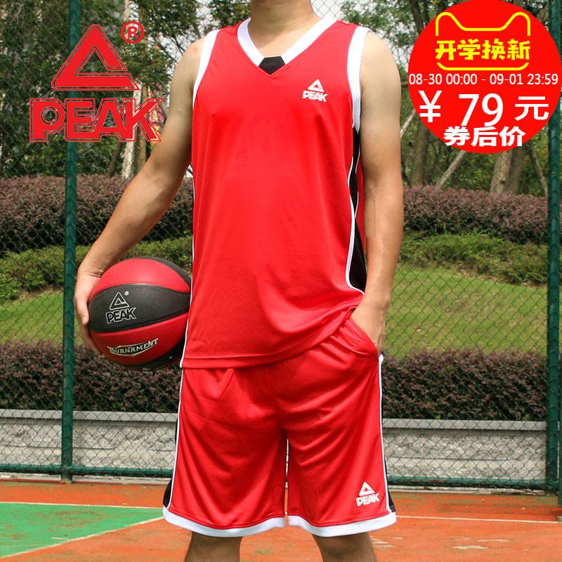 匹克运动服装篮球服2018新款宽松运动综合训练男学生比赛篮球套装