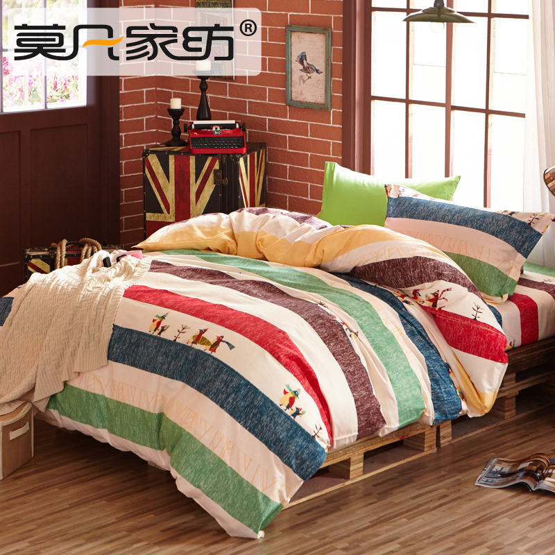 纯棉寝室床单被套