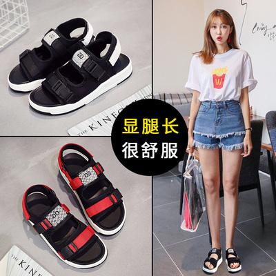 仙女的鞋平底鞋子韩版甜美学生凉鞋女夏百搭爆款2018新款女鞋春季十大品牌