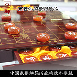 2019 natural agate Chinese chess large size set extra large solid wood folding drawer chessboard crystal gift