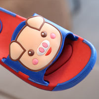 Spring and summer new cute cartoon pig children's slippers summer boys and girls non-slip soft bottom indoor and outdoor word drag