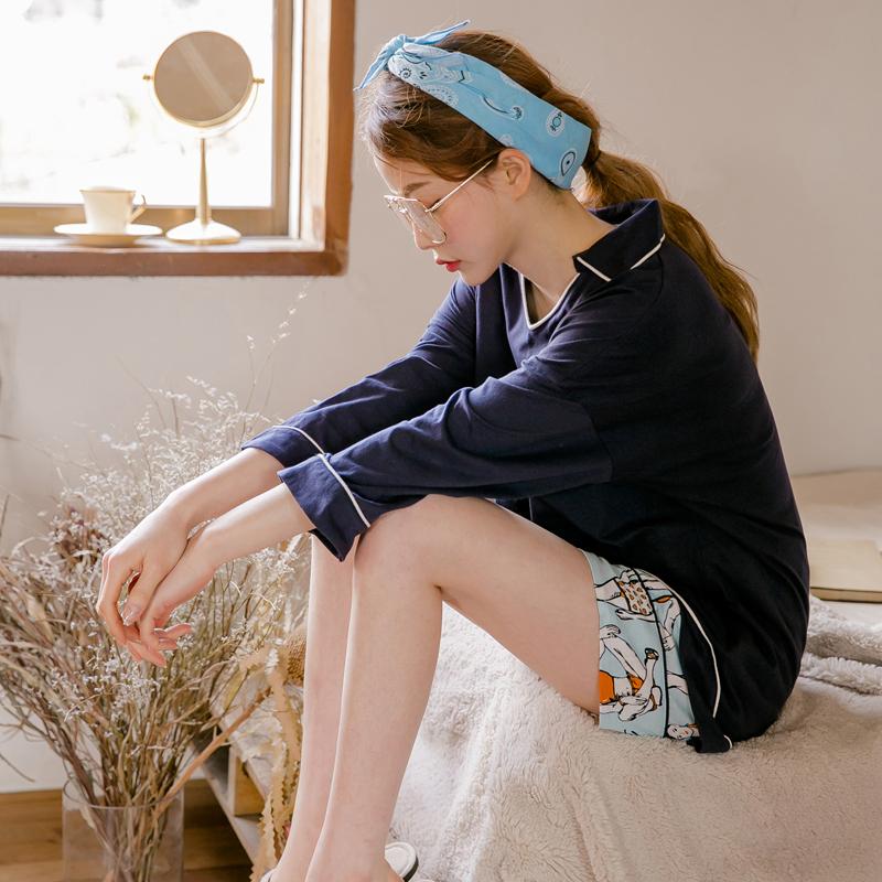哺乳外出短袖孕妇春夏季睡衣纯棉套装薄款