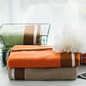 纯棉毛巾+浴巾两件套装成人吸水洗澡巾全棉面巾男女情侣大毛巾