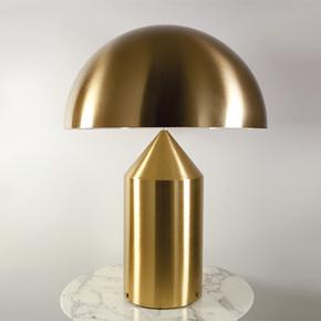 北欧简约个性创意金属蘑菇台灯 设计灯具客厅书房卧室床头台灯