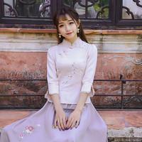 旗袍秋装中袖