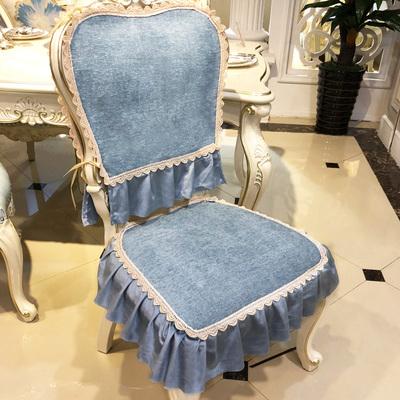 欧式餐椅垫桌布椅套套装布艺舒适家用四季毛绒通用坐垫靠背凳子罩