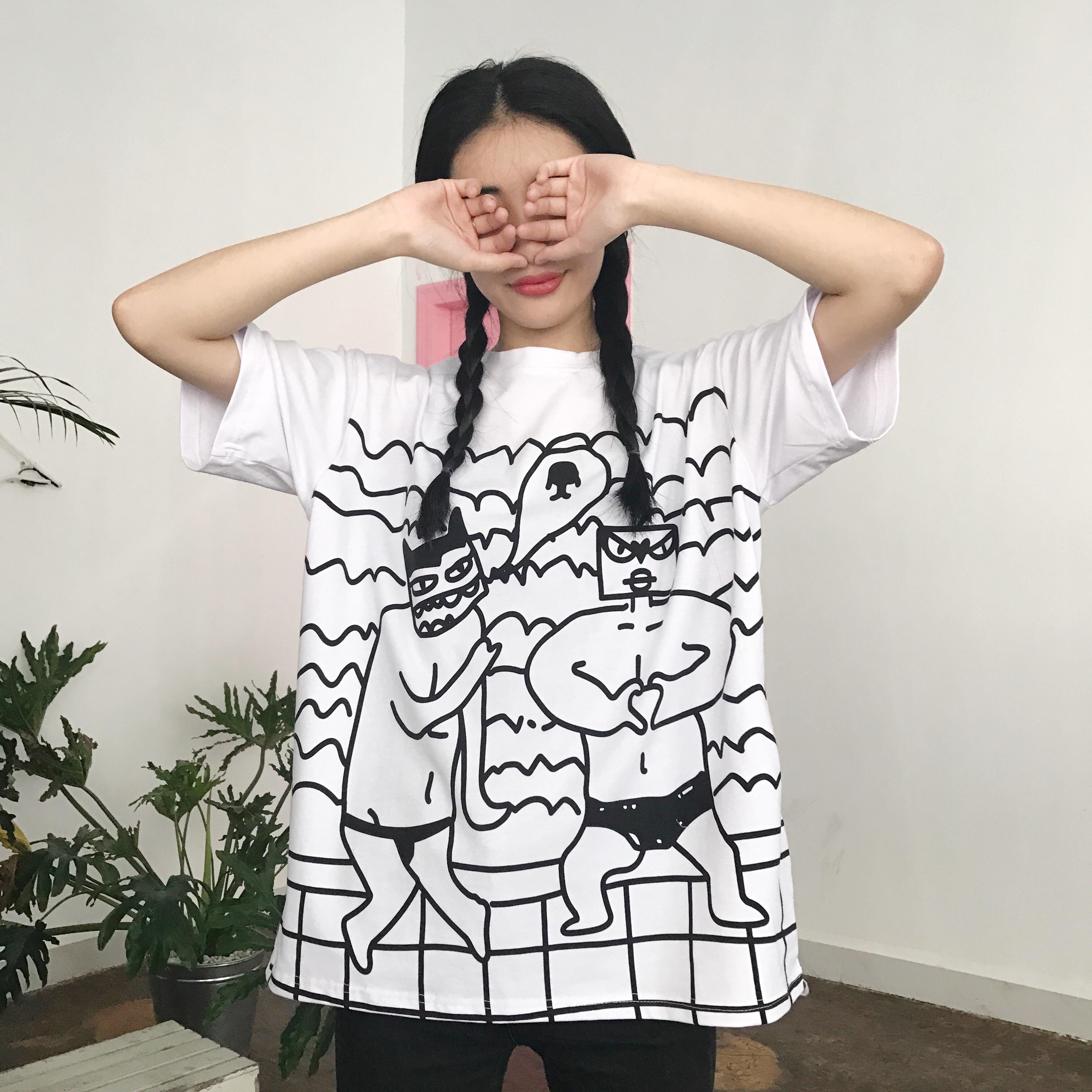 韩国搞怪t恤