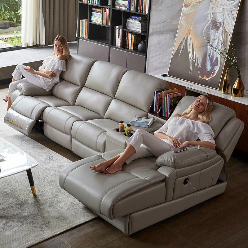 免洗科技布沙发现代简约客厅组合 北欧多功能电动头等太空舱沙发