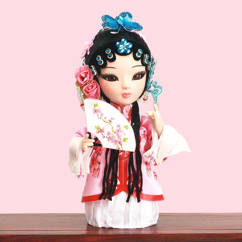 千寻有礼李香君中国风戏曲绢人娃娃手工摆件礼物原创设计送老外