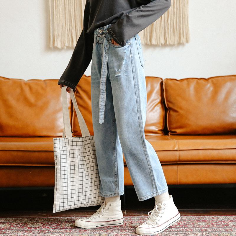潮女新款牛仔裤