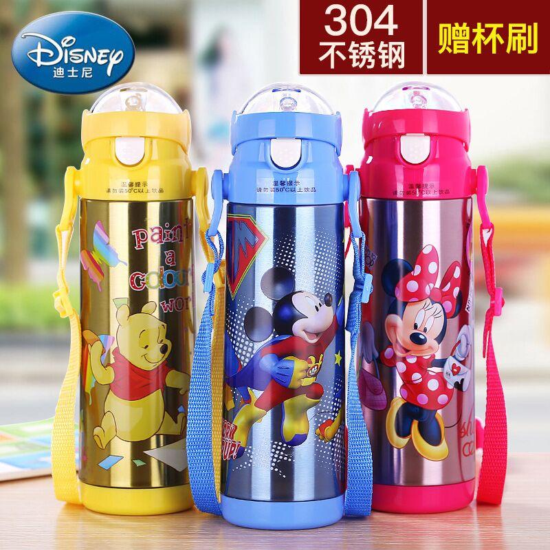 迪士尼儿童保温杯不锈钢幼儿园水壶小学生女男孩米奇防摔便携水杯