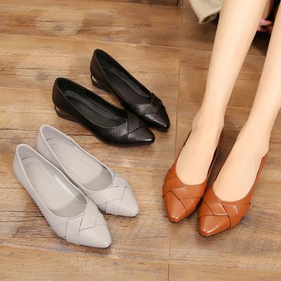 2018春季新款女鞋真皮软底单鞋舒适中老年妈妈鞋中年女士上班皮鞋