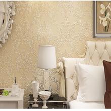 欧式墙纸无纺布3D发泡大马士革墙纸洒金壁纸客厅电视背景墙纸