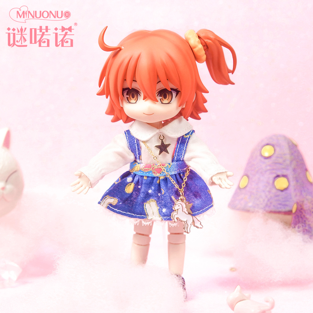谜喏诺OB11娃衣裙子独角兽与童话星洛丽塔连衣裙套装BJD娃娃衣服