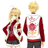 Man Fun fate around Nero Red Saber vest anime short-sleeved t-shirt summer fgo two yuan clothes suit